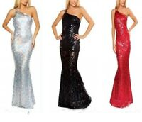Women Off-the-shoulder Sleeveless Sequin Shiny Party Clubwear Formal Sexy Dress