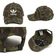 Adidas Originals Mens Camo Baseball Cap BNWT Trefoil Pre Curved Hat Camouflage