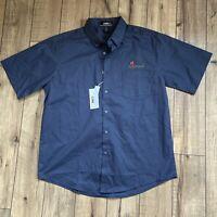 Applebee's employee Men's Large Core 365 Short Sleeve Twill Shirt (88194)
