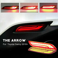 2x LED Red Bumper Reflector Brake Light Turn Signal DRL For Toyota Camry 2018-20