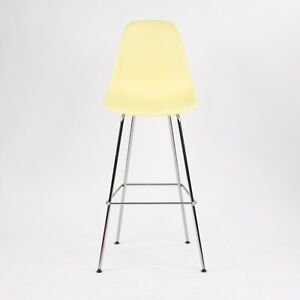 2016 Herman Miller Eames Plastic Side Shell Chair Barstool Pale Yellow