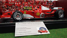 FERRARI  190 WINS 248 F1 2006 SCHUMACHER 90 WINS 1/18 HOT WHEELS M6713 formule 1