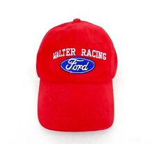 Vintage Ford Dealer Walter Wolf Racing red Promotional Advertising Promo Hat