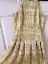 Calvin Klein Printed Halter Fit & Flare Yellow Dress Size 4 (fits like a size 6)