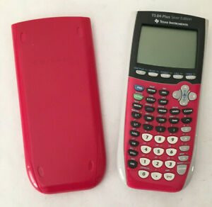 Texas Instruments TI-84 Plus Silver Edition Pink Graphing Calculator and Cover