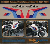 BMW R1100GS 1994-1999 - Tank & Front Fender Decals Stickers Graphics