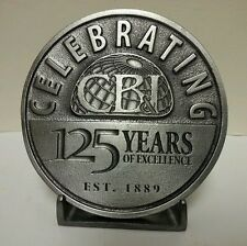 CB&I Construction Co. Commemorative 125 yr anniv Belt Buckle Chicago Bridge Iron