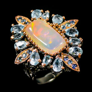 6ct+ Super Top AAA Opal Ring Silver 925 Sterling  Size 8.5 /R172510