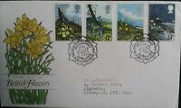 GB 1979 British Flowers National Assosiation Flower Arrangement SHS FDC St Marys