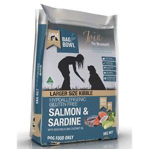 Meals for Mutts Gluten Free Salmon & Sardine Larger Kibble Dry Dog Food 9kg