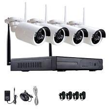 CCTV IP Cámaras WIFI Kit 4 Camaras Sistema de Vigilancia Seguridad NVR