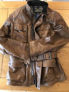 Belstaff Leather Trialmaster / Tourist Trophy Jacket - Burnt Cuero - Medium