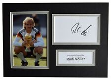 Rudi Voller Signed Autograph A4 photo mount display Germany Football AFTAL COA