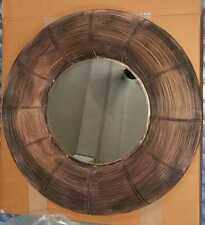 Metal Black Copper Big Round Antique Rustic Home Wall Decor Craft Mirror Works