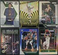Lot of (6) Giannis Antetokounmpo, Including Shock Wave SP, Hoops blue & inserts
