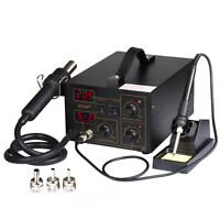 852D+ SMD Soldering Rework Station Hot Air & Iron Gun Welder Desoldering PLCC