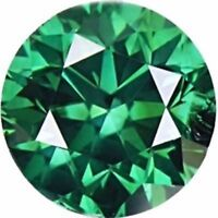 Green Color Loose Moissanite 1.00 Ct Round Brilliant Cut VVS1/2 For Wedding Ring