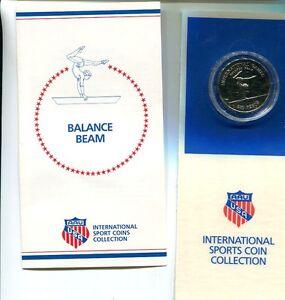 1984 GUINEA BALANCE BEAM 250 PESOS OLYMPIC COPPER NICKEL COIN CHOICE BU
