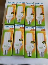 8 x Philips genie 14 watt (75) bayonet Energy Saving light bulbs Long life new.