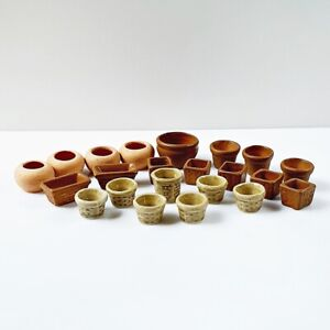Dollhouse Miniatures Ceramic Vase Pot Fairy Garden Supply Decor Mixed Lot Set 22