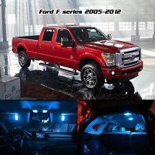 For 2005-2016 Ford F-250 F-350 F-450 Full Interior Light Package Kit-Ice Blue