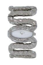 Roberto Cavalli R7253195515 Cleopatra Women's Analog Silver Tone Snake Watch