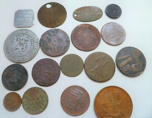17 MIXED TOKENS GLASGOW AND FRANCE TRAMS etc