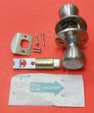 NEW MOBILE HOME PASSAGE DOOR KNOB STAINLESS STEEL NON LOCKING