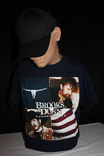 Brooks and Dunn Steers and Stripes Concert Tour T-Shirt - - New - Large Unisex