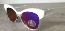 ASOS Ladies Cat Eye Sunglasses white/transparent with soft case R643-8