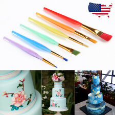 6PCS Fondant Cake Icing Decorating Painting Brush Set Sugarcraft Pastry DIY Tool
