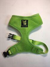 MEDIUM Green Padded Mesh Soft Dog Harness Walking Pet