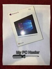 Microsoft Windows 10 Professional License Key 64 Bit Official Install DVD / USB