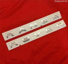 """NEW RANGE ROVER VOGUE BONNET BOOT BADGE DECAL IN SILVER """"""""GENUINE"""""""""""
