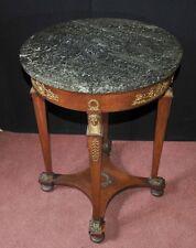 Antique French Empire Side Table Pharo Leg Circa 1920