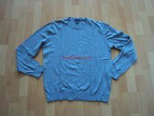 Original H&M Basic Pullover feiner Strick Sweatshirt Gr.: L grau Rundhals