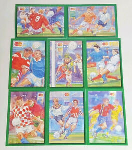 Full Set of 8 x Art Postcards Euro 1996 Football Tournament MasterCard Unposted