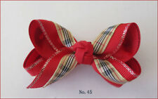 """50 Blessing Good Girl Boutique 2.75"""" - 3"""" Bow 2 Tone Double Abc Hairbow Clip"""
