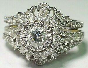 Simply Vera Vera Wang Diamond Engagement and Insert Ring 14k White & Yellow Gold