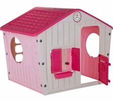 Girls Pink Playhouse Garden Toy Play House Childrens Outdoor Plastic  Playhouse