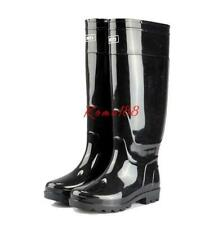Men's Pull On Rainboots Waterproof Rubber Fishing Knee High Boots Outdoor Shoes