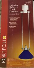 "Portfolio Nickel Telescoping Halogen Blue Track Light Pendant 18""129046 (Lot 4)"