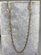 """Estate 18k yellow gold fancy twisted curb link chain necklace 16.8"""" 2.1g shiny"""