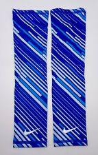 Nike Lightweight Running Swift Sleeves Adult Unisex L/Xl Blue/Royal Blue/Silver
