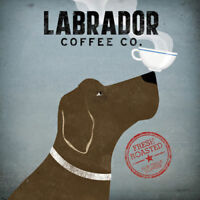 Labrador Coffee Co by Ryan Fowler Dog Coffee Print 12x12