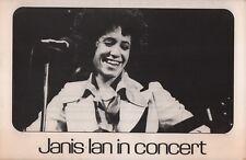 Janis Ian 1976 At Seventeen Tour Westbrook, L.I. Program / Handbill / Stub / Ex