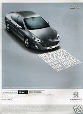 Publicité advertising 2010 Peugeot 407 Pack Limited HDI