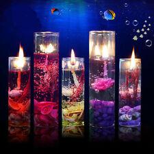 Glass Bottles Ocean Theme Smokeless Jelly Wax Wedding Gel Candles Latest Gift