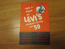Rare Vintage salesman catalog Take a Peek At LEVI'S advertisement  for '59