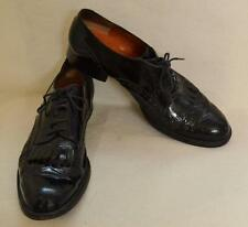 Fratelli Rossetti Black Leather Kiltie Lace Up Oxford Shoes Sz 41